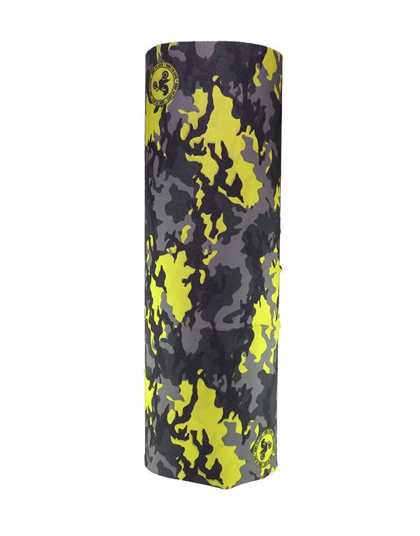 sarı kamuflaj desenli bandana
