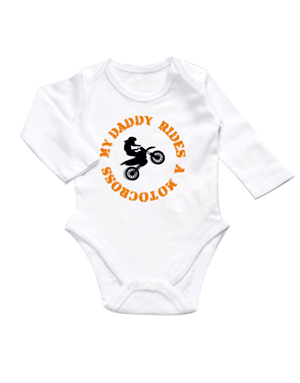 my daddy rides a motocross baby body