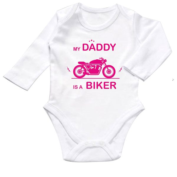 my daddy is a biker pink body