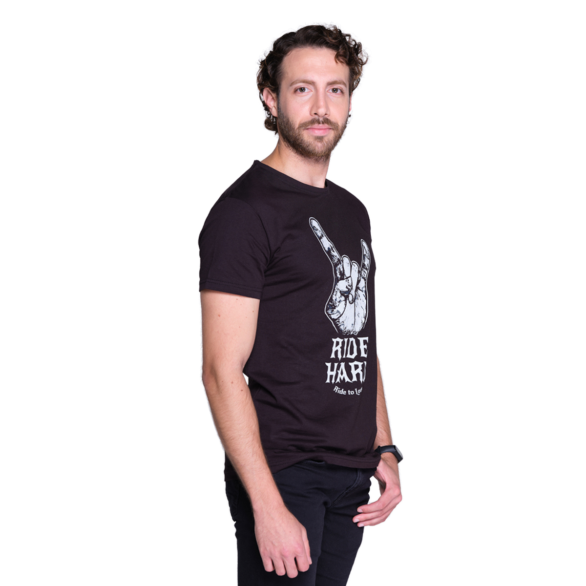 Ride to Love - Ride Hard Black T-shirt