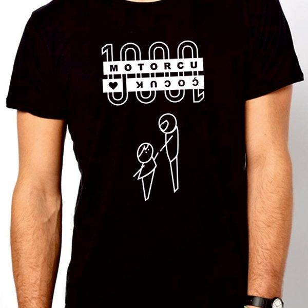 1000motorcu 1000cocuk proje ilker kül erkek t-shirt