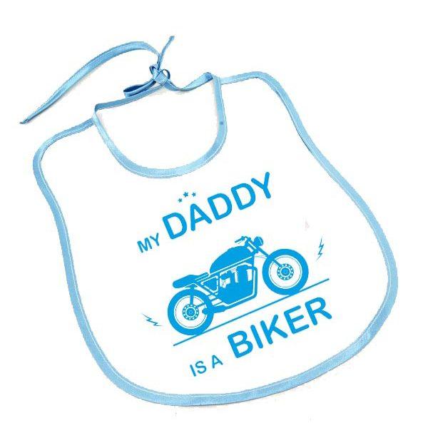 my daddy is a biker baby boy erkek bebek çocuk önlük
