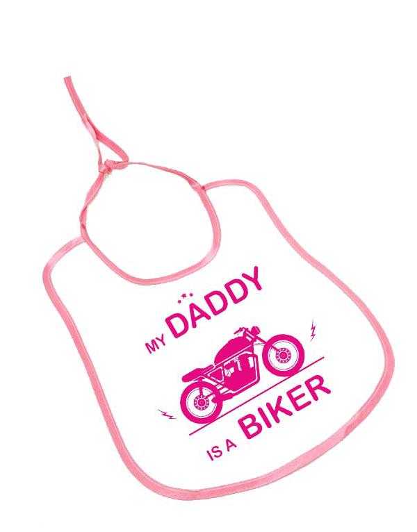 my daddy is a biker bebek önlüğü