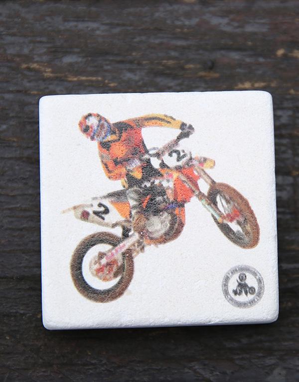 motocross dogal tas magnet