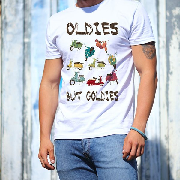 oldies scooter motorsiklet tishirt