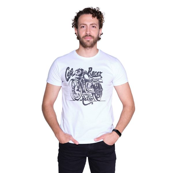 Ride to Love - Motorcycle - Cafe Racer White T-shirt