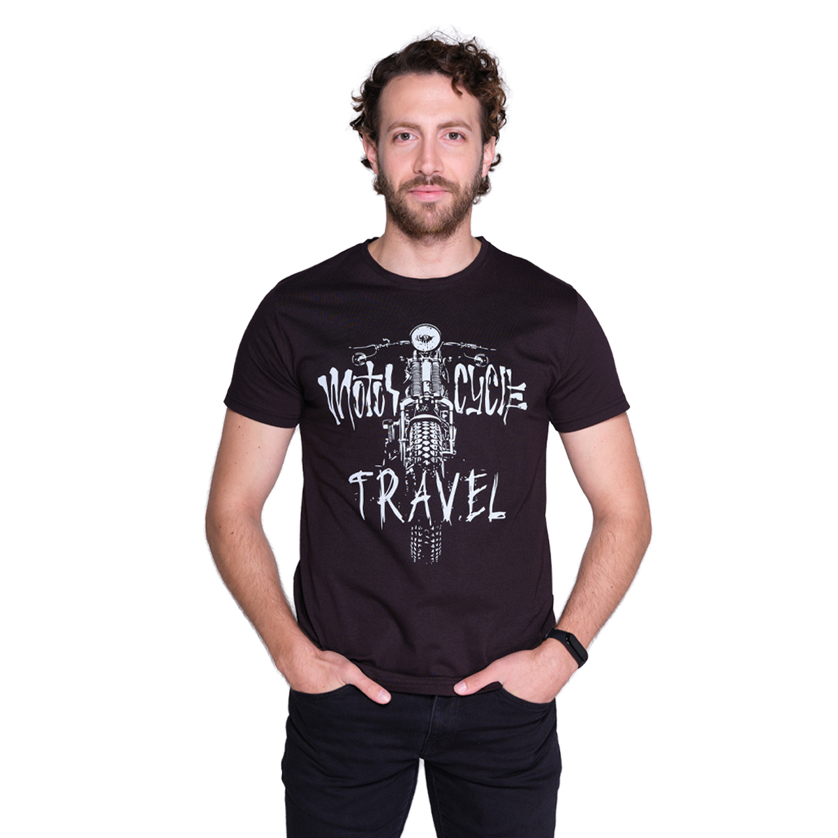 Ride to Love - Motorcycle Travel Black T-shirt