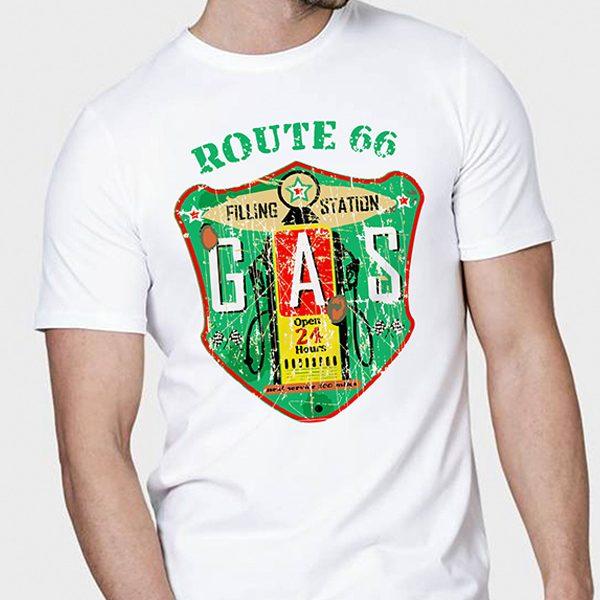 route66 gas tshirt motorcycle motcu motosiklet