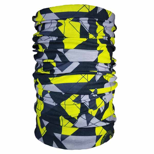 geometric yellow headwear