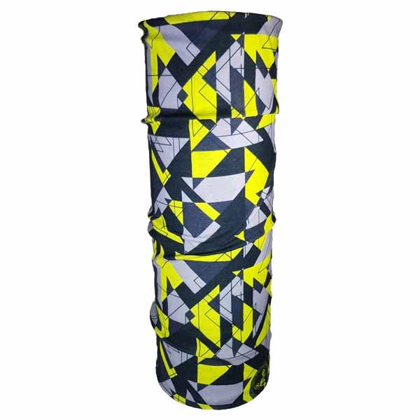 yellow geometric bandana