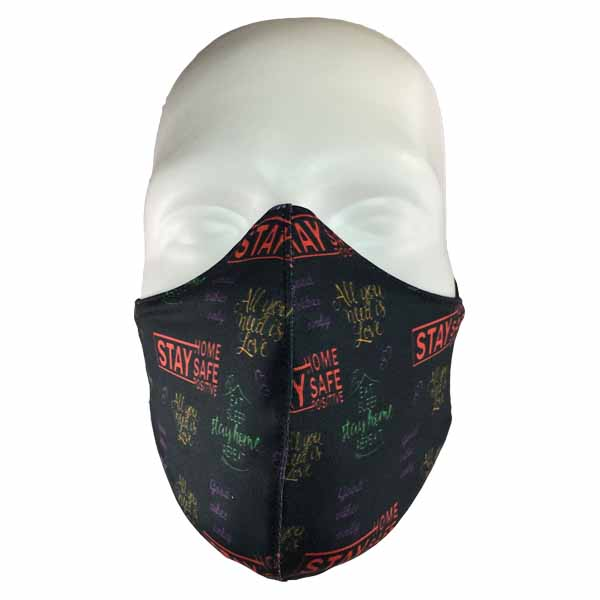 stay safe stay home maske